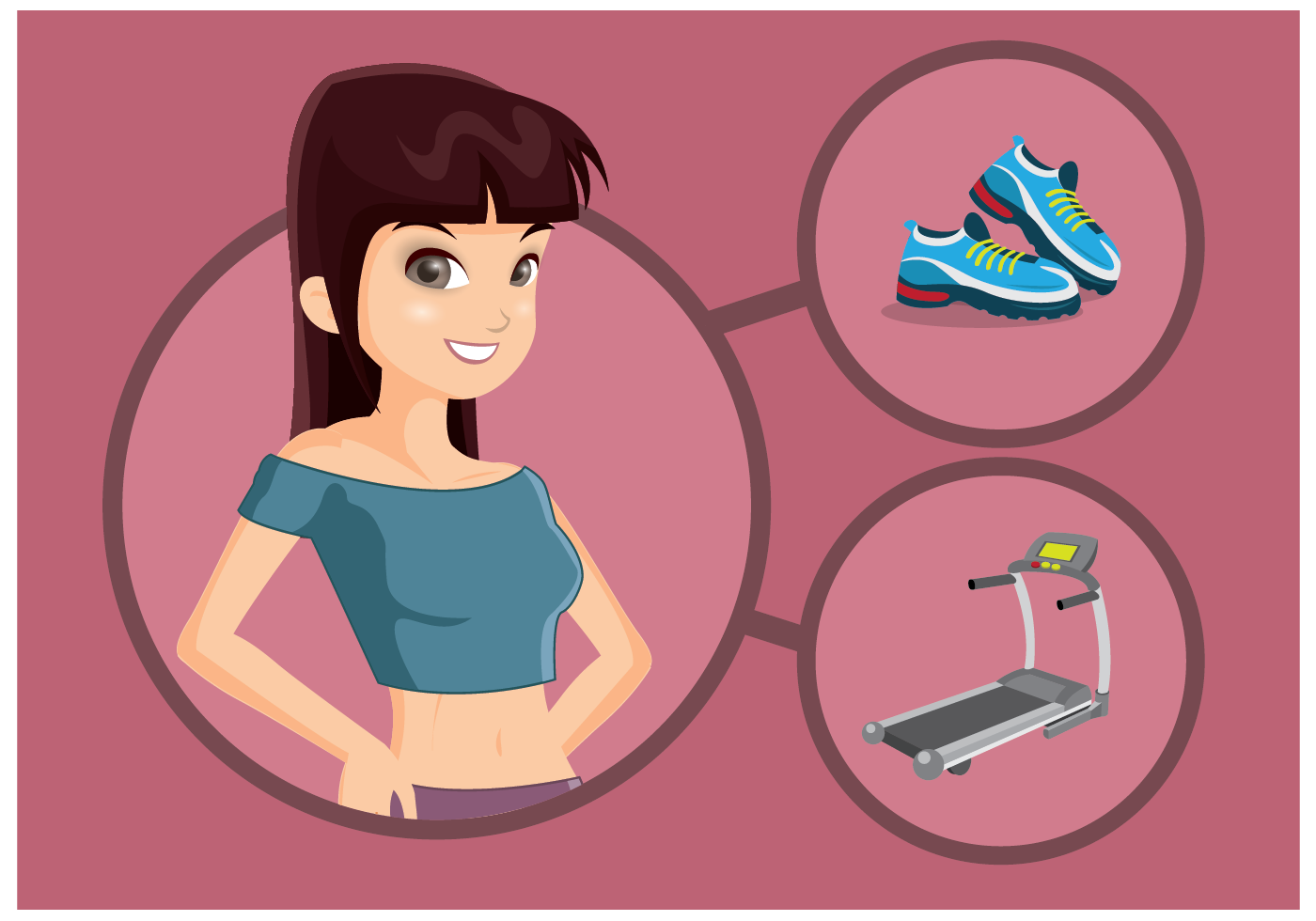 Free Female Personal Trainer Vector - Download Free ...