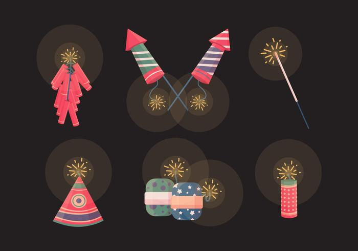 Diwali Crackers Vector Collection