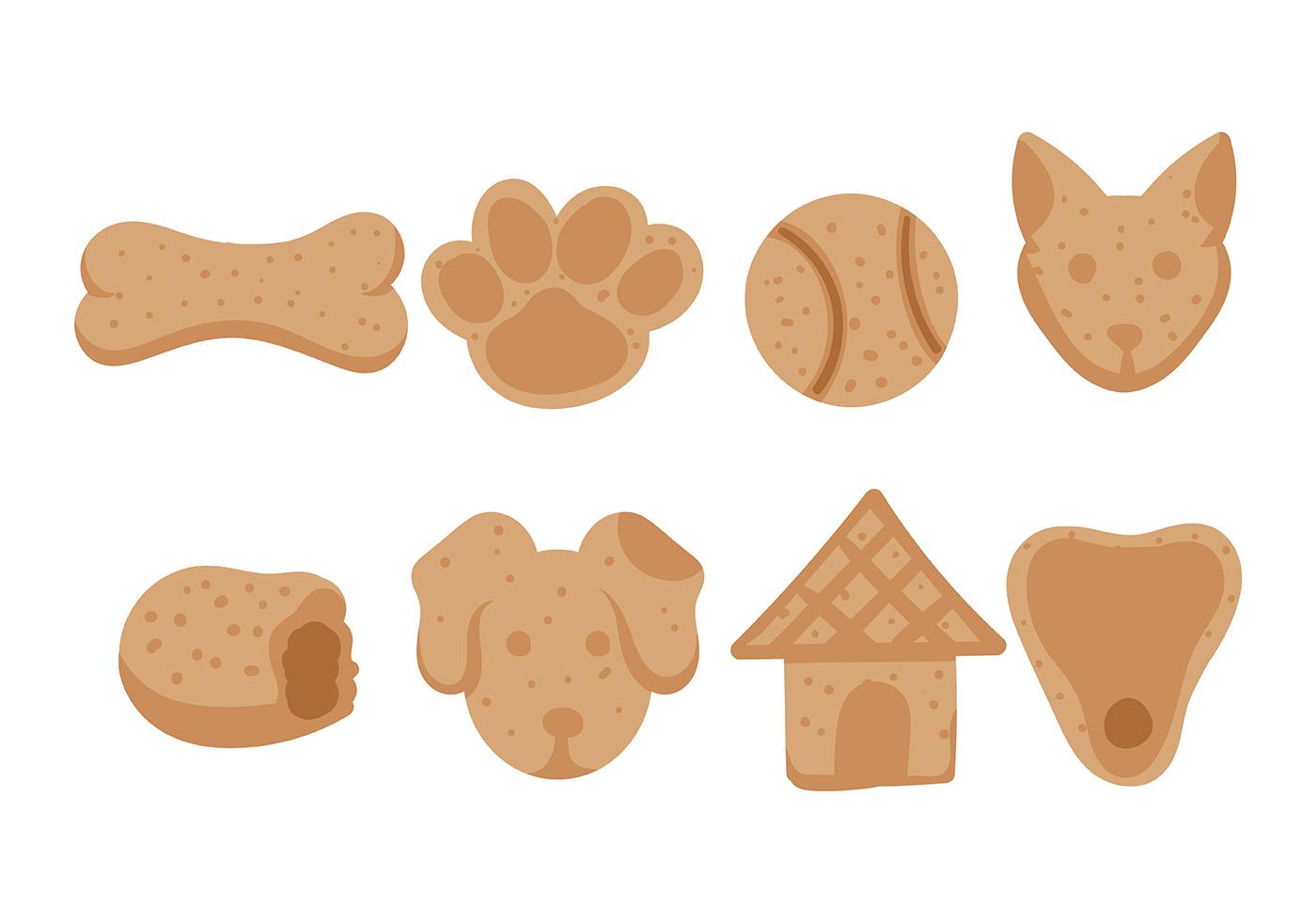 Dog Biscuit Icon Vector - Download Free Vectors, Clipart