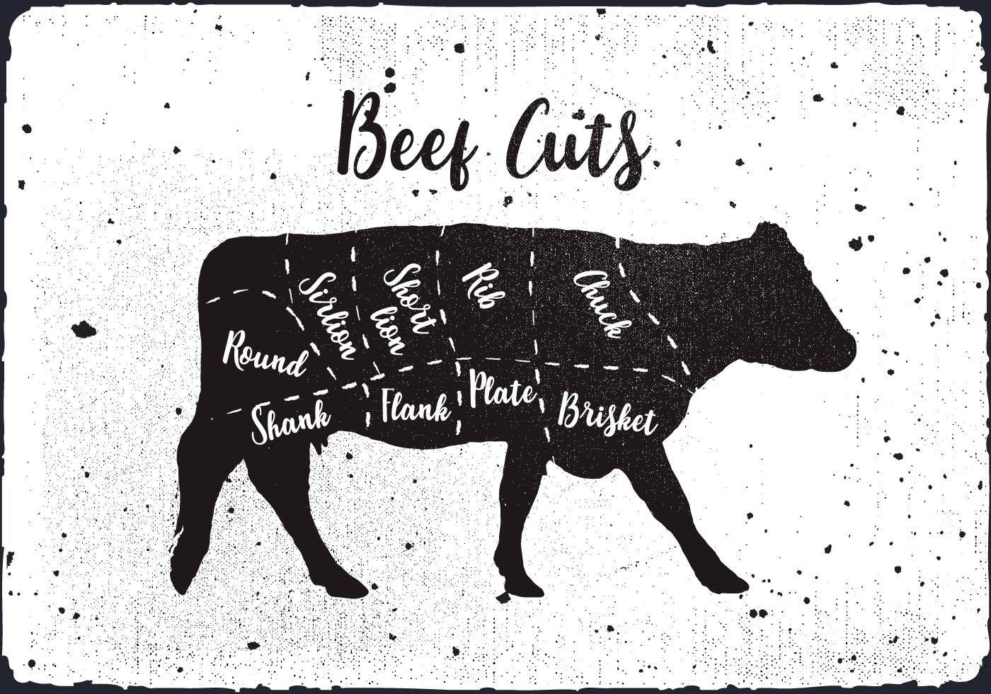Beef Cuts Vector Background Download Free Vector Art