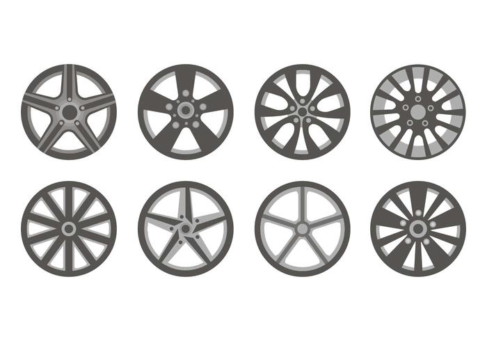 Sporty Allow Wheels Icons Vector
