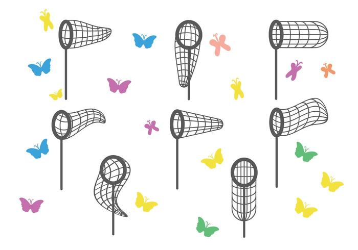 Conjunto de vetores da rede borboleta