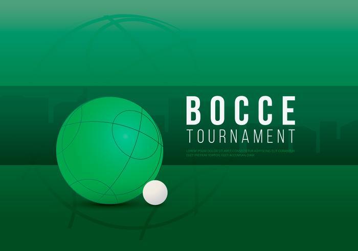 Bocce Turnier Illustration vektor