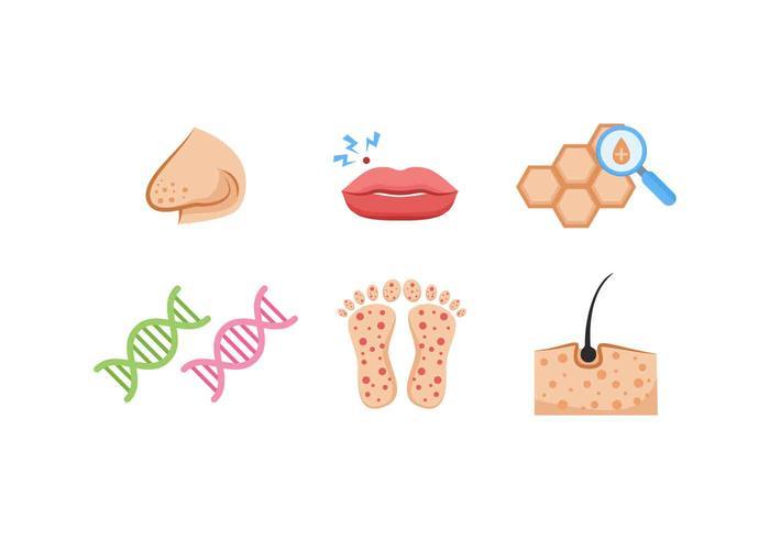 Des vecteurs de dermatologie exceptionnels
