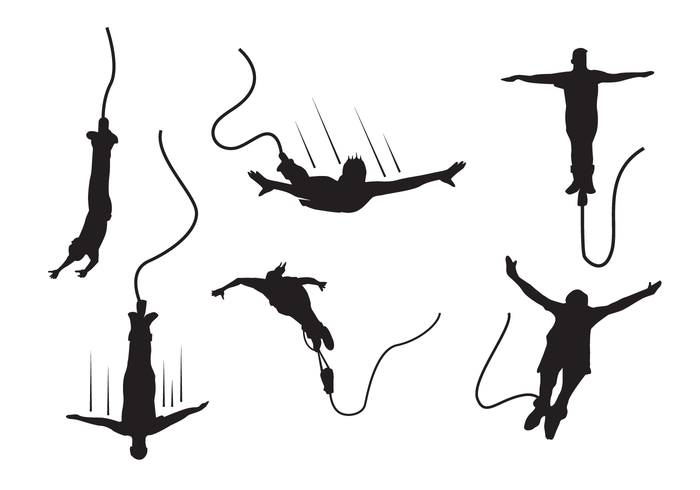 Bungee silhouet vector