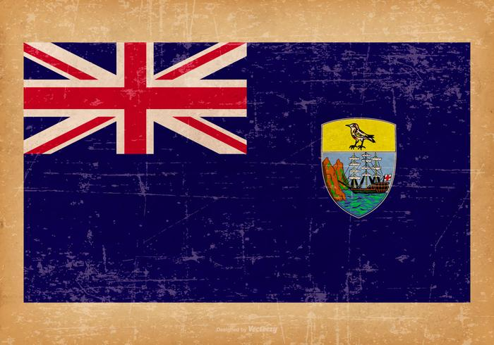Grunge Vlag van Saint Helena