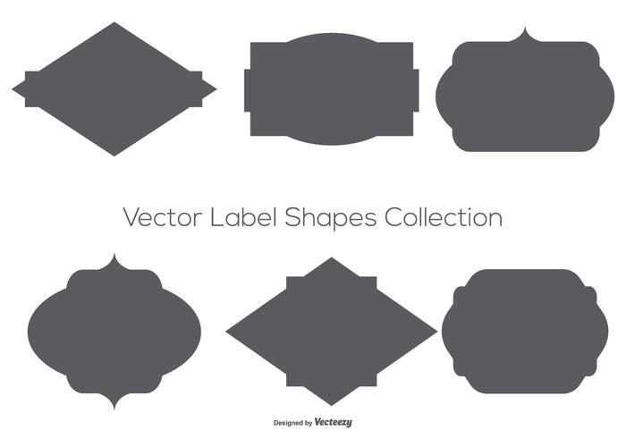 Collection de formes d'étiquettes vectorielles