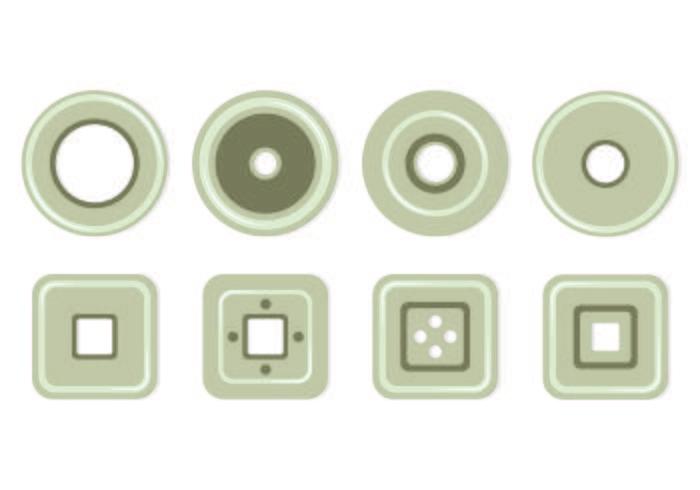 Conjunto de iconos de ojal