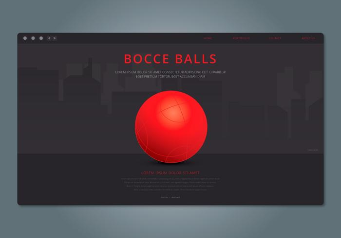 Bocce Web Template Illustratie vector