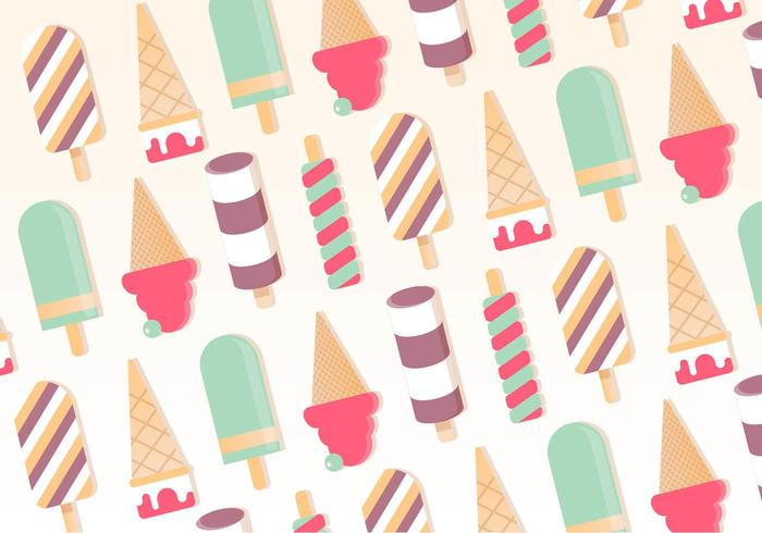 Free Vector Ice Cream Pattern Background
