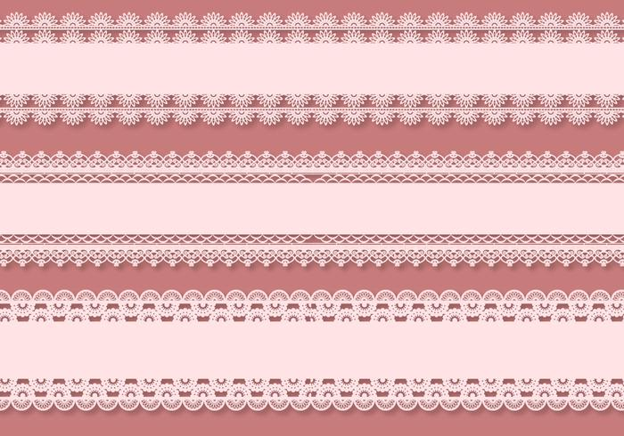 Eyelet Curve Vector Borders