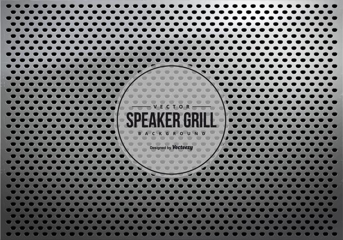Grey Metalic Speaker Grill Texture Background