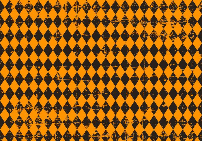 Grunge Argyle Halloween Background