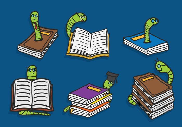 Conjunto de vetores do leitor de livros