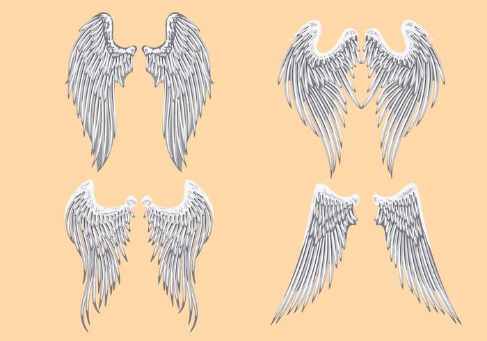 Vector Heraldic Angel Wings