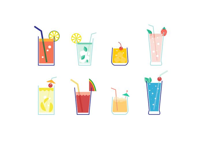 Free Mocktail Vector Collection