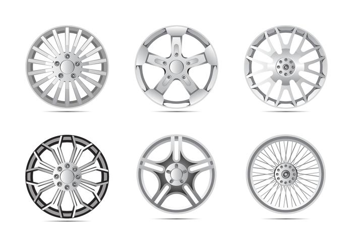 Shiny Alloy Wheels Vector