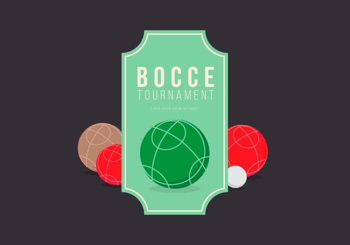 Bocce turnerings illustration vektor