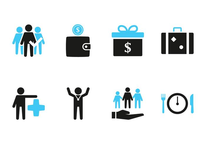 employee benefit icon download free vector art stock