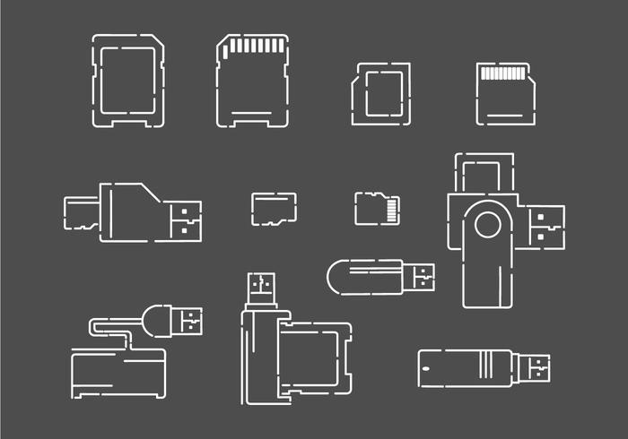 Kortläsare Vector Ikoner