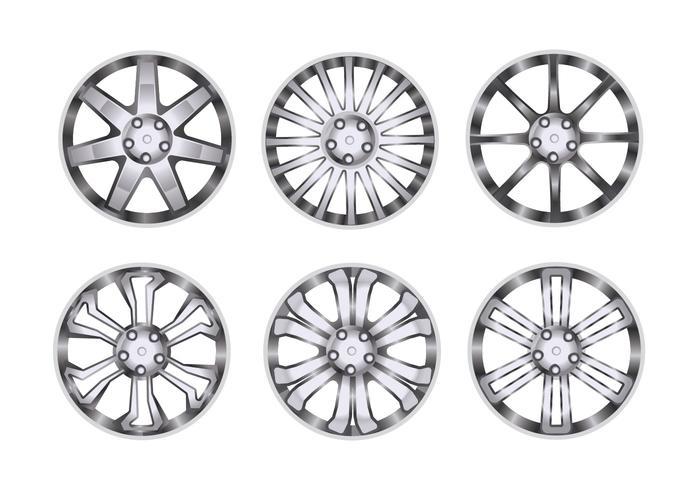 Sport Wheel with Chrome Rim Vectors