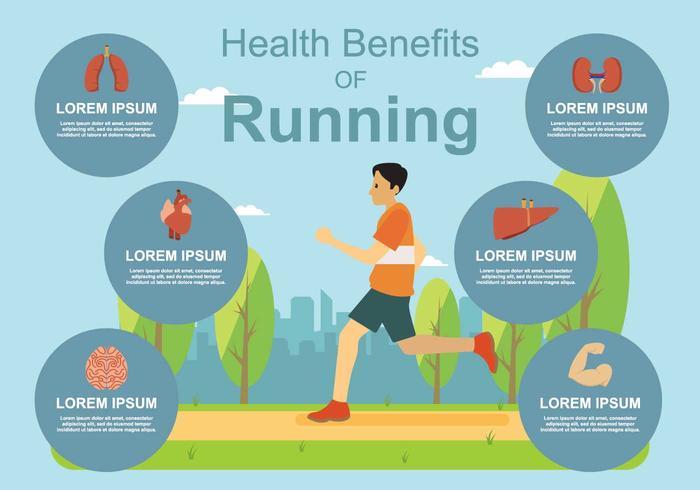 Freier gesundheitlicher Nutzen der Jogging-Illustration