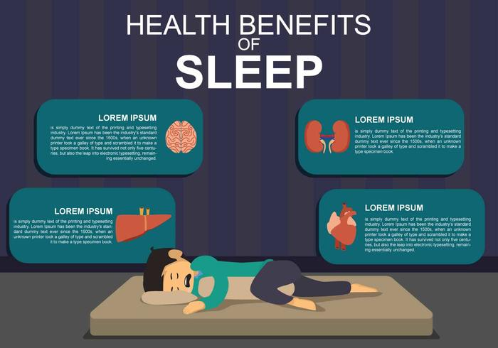 Benefício gratuito de saúde da ilustração do sono