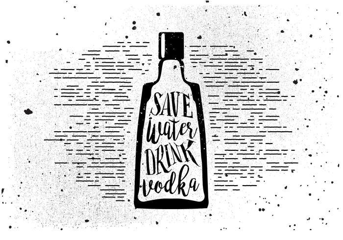 Mano libre dibujado fondo de bebidas