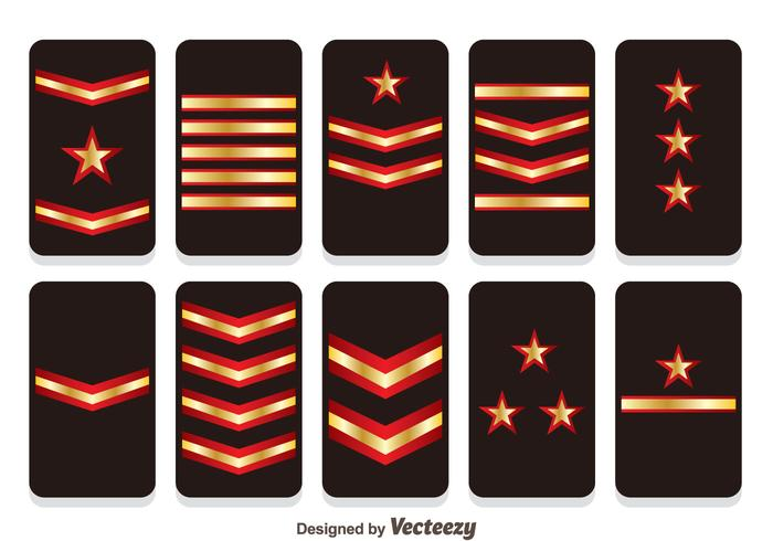 Badges de badges vecteurs de rang militaire