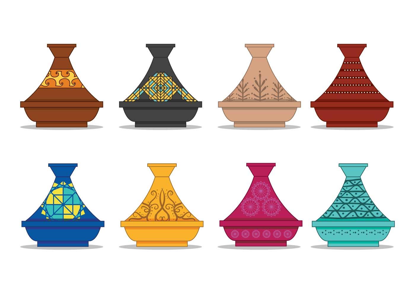 Tajine Pot Vector Set Download Free Vectors Clipart