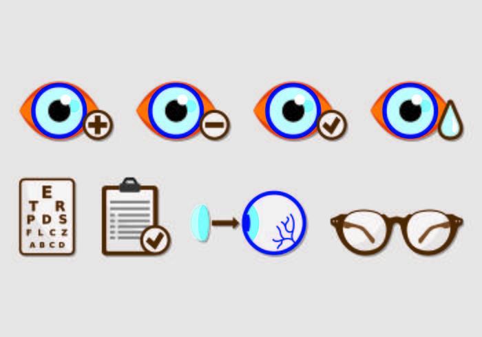 Set van Eye Test Icons vector