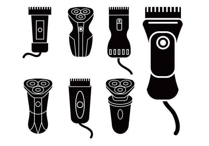 Ensemble d'icônes vectoriel Shaver