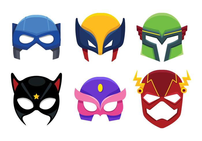 Superhero Mask Icon Cartoon