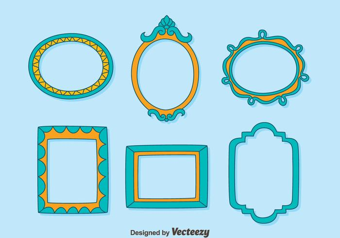 Décoration Photo Frame Collection Vector