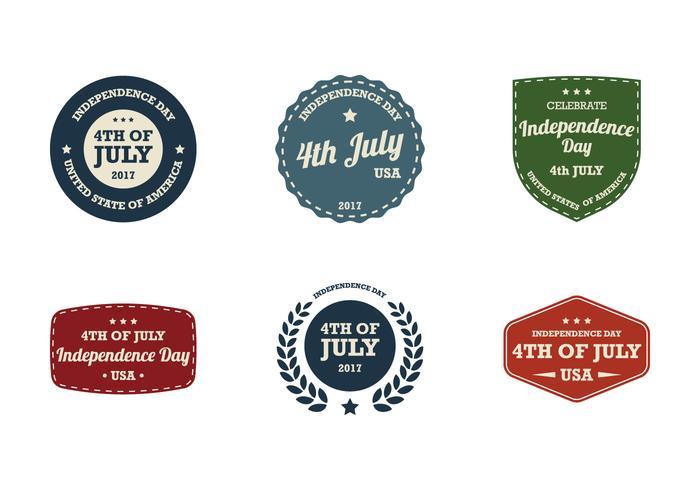 4 juli vintage etiket