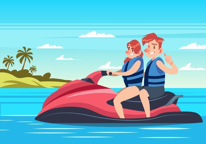 Par Ridning Vatten Jet Ski vektor