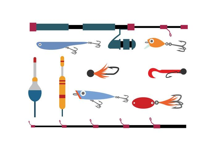 Free Fishing Tools Flat Icon Vector