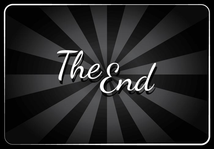Classic Movie End Screen Vector