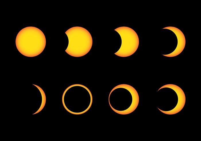 Sonnenfinsternis Vektor Icons
