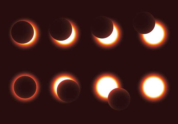 Solar Eclipse Vector Pack