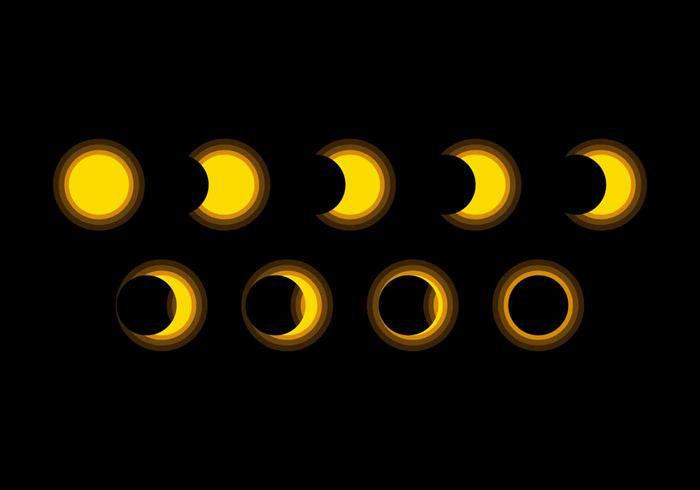 Free Outstanding Solar Eclipse Vectors
