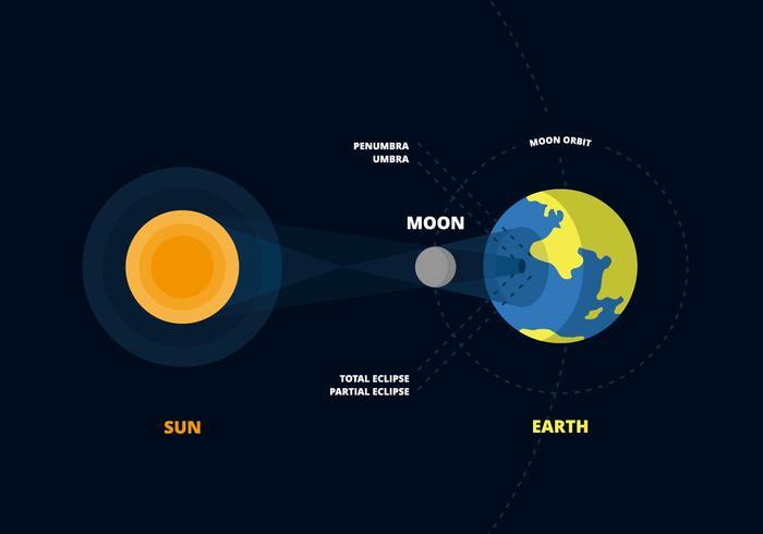 Vector Solar Eclipse