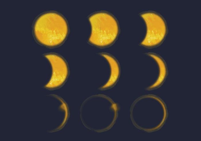 Ilustração do vetor eclipse solar