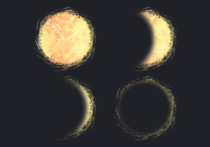 Ilustración vectorial del eclipse solar