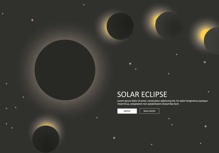 Etapa livre da ilustração do eclipse solar