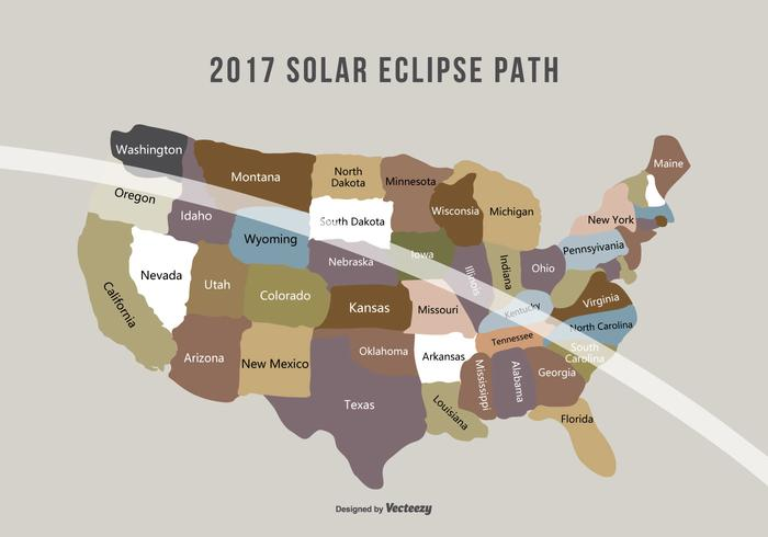 August 2017 Solar Eclipse Path Map