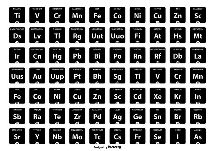 Periodic Table of Elements Icon Collection