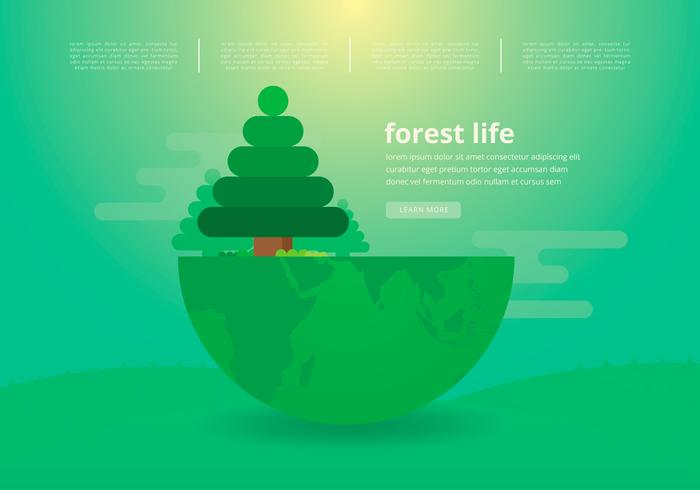 Life of Nature. Reforestation.