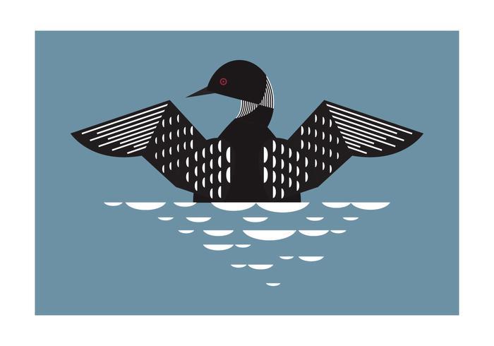 Ilustración geométrica del fondo del pájaro del bribón