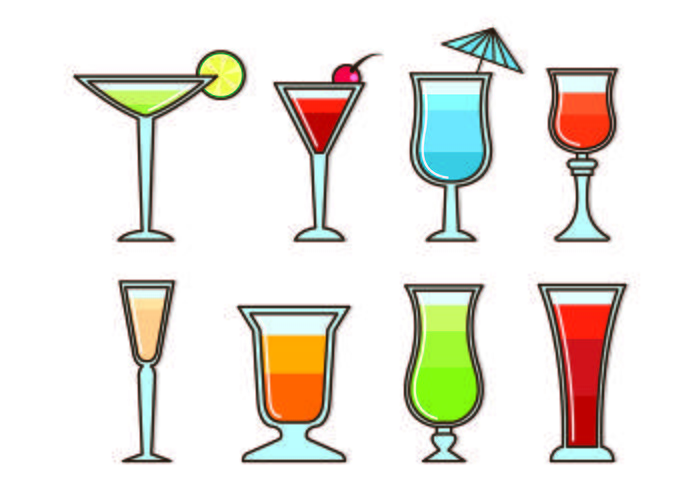 Vectors Glass Of Mocktail